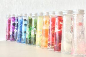 ハーバリウムカラーボトル